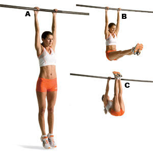 Abs workout training - Hanging leg raise